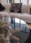 Tiger Head – Large Designer Cushion in Black 32″ x 26″